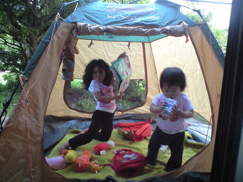 月夜のテント